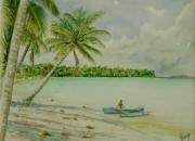tableau paysages polynesie tahiti lagon : Takapoto