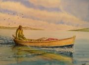 tableau marine antilles pecheur barque martinique : antilles