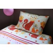 """art textile mode animaux linge de lit enfant parure de lit fille couette lit evolutif : Parure de lit fille chat """"Ticha"""""""