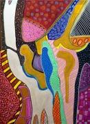 tableau abstrait achat tableau naif abstrait : PEDIBUS ALTERNE