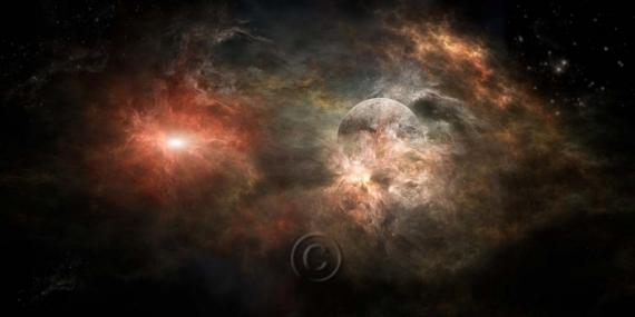 ART NUMéRIQUE nébuleuse espace univers planète  - Univers