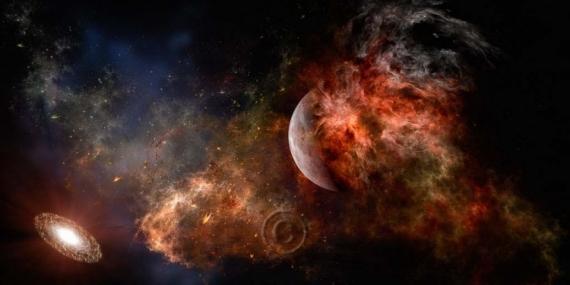ART NUMéRIQUE espace univers nébuleuse planète  - Explosion