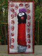 art textile mode personnages laines feutrees laines peintures habitacle : Personnage