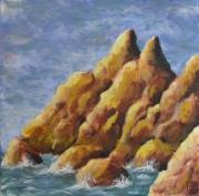 tableau paysages rocher mer irlande : Rochers Irlandais