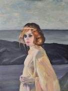 tableau personnages portrait mer : Louise 1