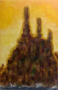 tableau paysages rocher impressionisme mer : Cathédrale de roches