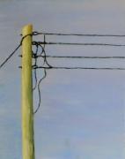 tableau paysages poteau electrique : Poteau