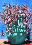 tableau fleurs plante pot majorelle : Plante au jardin Majorelle