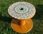 artisanat dart abstrait : table jardin