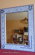 deco design fleurs : miroir mosaique