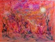 tableau abstrait abstrait mixte : au crépuscule