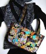 art textile mode animaux sac coton chouette : Sac à main