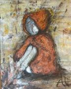 tableau personnages enfant cuivre cape capuchon : La Capeline