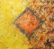 tableau abstrait ete automne passage affiche : Passage à l'automne