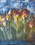 tableau fleurs fleurs bleu printemps : Des fleurs pour moi