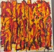 tableau abstrait feu flamme : Party de feu