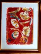 tableau fleurs fleurs luniversdenapa rouge : Tulipes blanches