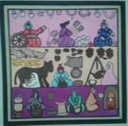 tableau personnages femmme travail des femmes boulleau enagere : femmmes aux foyer