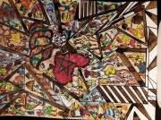 tableau scene de genre art naif africain art libre afrique : Afrique