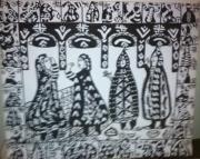 tableau femmme berbere paysage women : femme berberes