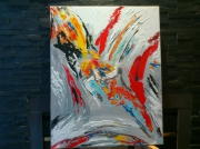 tableau abstrait : Rainbow