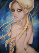 tableau femme fantaisie feerie : céleste
