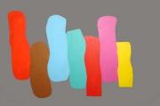tableau abstrait soiree ambiance couleurs paillettes : NOTE DE COULEURS  2