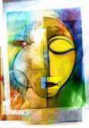 art numerique personnages variation 2 visage jaune : variation2