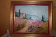 tableau paysages : arbres en fleurs