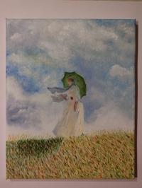 Femme au parasol