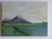 tableau paysages montagnes plaine lac etang : Montagnes