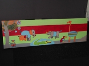 tableau animaux tableau enfant jungle animaux : Dans la jungle multicolore