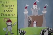 tableau personnages tableau enfant chateau fort chevalier : Petit royaume d'un grand chevalier