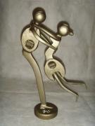 sculpture personnages : Les rockeurs