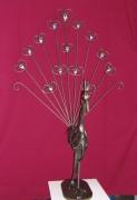 sculpture animaux : Le paon