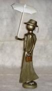 sculpture personnages : La dame à l'ombrelle