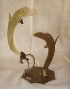 sculpture animaux : Les dauphins