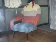 deco design personnages fauteuil mannequin jean tapissier : bernadette