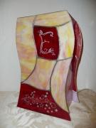 ceramique verre autres lampe vitrail tiffany lampe ,a poser : Lampe Estelle