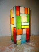 ceramique verre abstrait lampe vitrail lampe ,a poser : Lampe Mosaïque