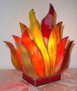 ceramique verre autres lampe vitrail tiffany lampe ,a poser : Lampe Flamme