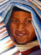 tableau personnages portrait egypte sourire tapis : Sourire d'Egypte