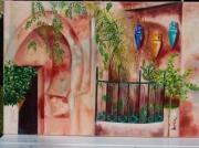 tableau villes maroc marrakech medina saumon : Marrakech, la ville en rose