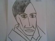 """dessin autoportrait modele blanc : Autoportrait D'aprés """" Picasso """""""