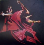 tableau personnages corps mouvement drape danse : danse
