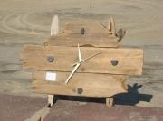 artisanat dart autres bois flotte zen unique : horloge chevalet