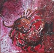 tableau marine marine crabes araignees : PANIER DE CRABES ARAIGNEES