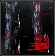tableau abstrait abstrait noir rouge : RED LINES