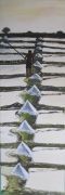 tableau marine marine sel marais salants peche : CUEILLETTE DU SEL
