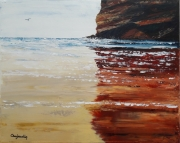 tableau marine marine plage mer bord de mer : EFFETS D'EAU
